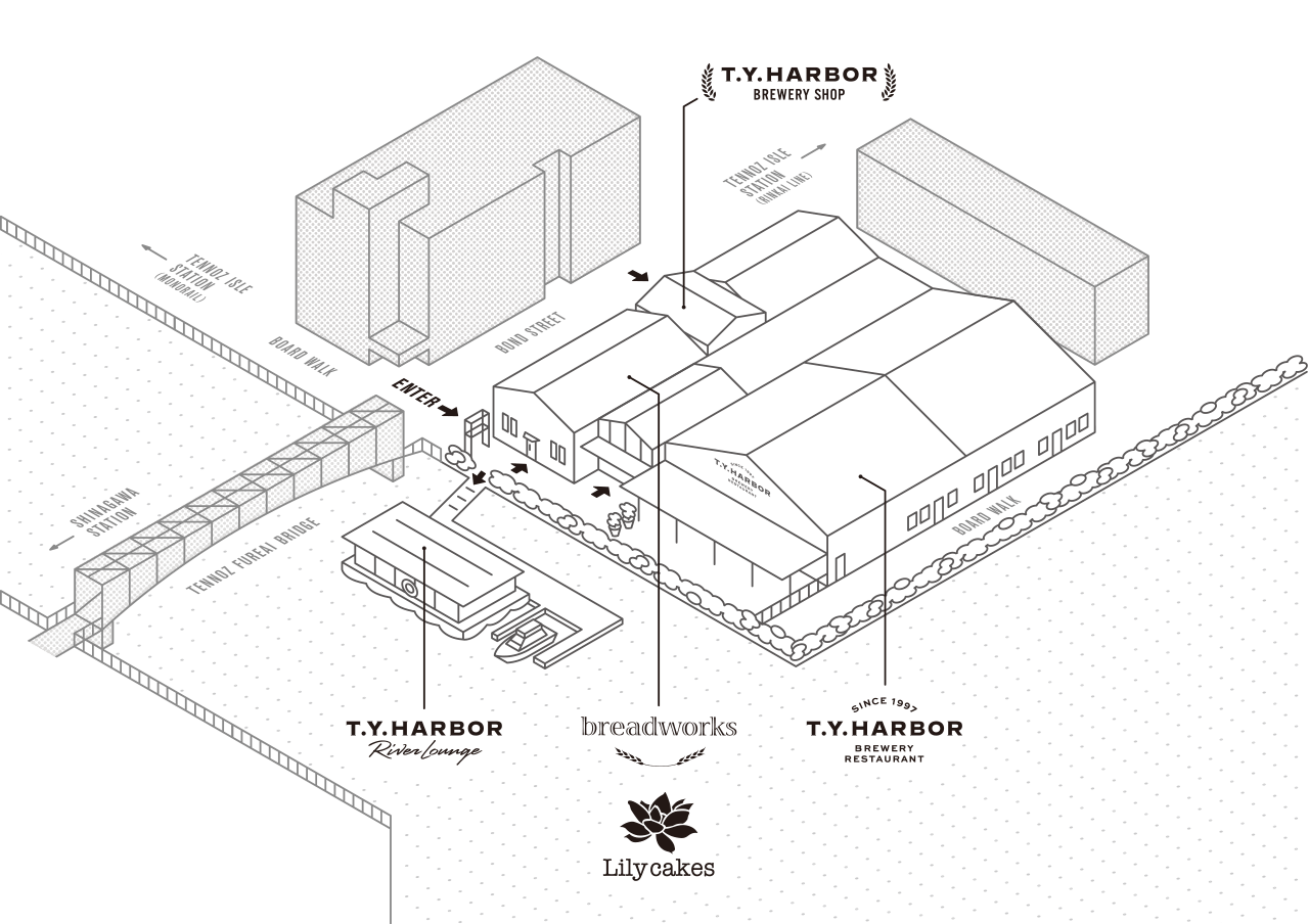 TENNOZ AREA MAP