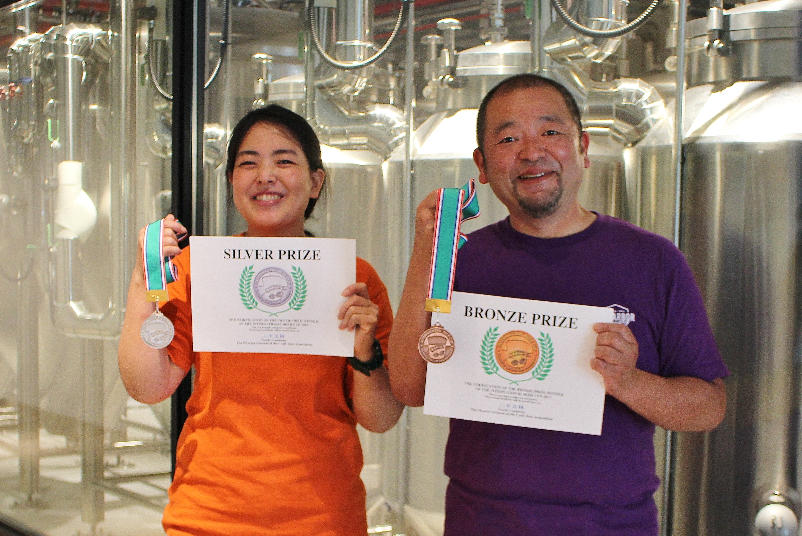 Silver and bronze at the international beer cup 2017 news for Japan craft beer association